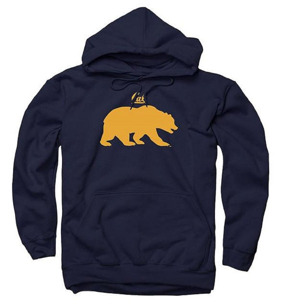 UC Berkeley Cal Enclosed Men's Hoodie Sweatshirt-Navy-Shop College Wear