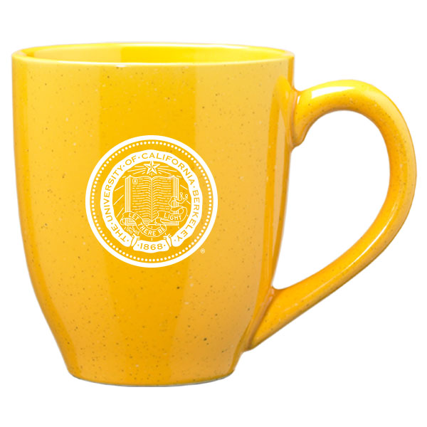 University Of California Berkeley Cal Laser Engraved 16 Oz. Speckled Ceramic Mug-Gold-Shop College Wear