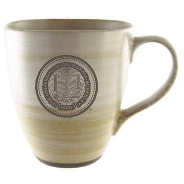 U.C. Berkeley Cal 16 oz. clay ceramic mug-Tan