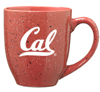 University Of California Berkeley Cal Laser Engraved 16 Oz. Speckled Ceramic Mug-Pink-Shop College Wear