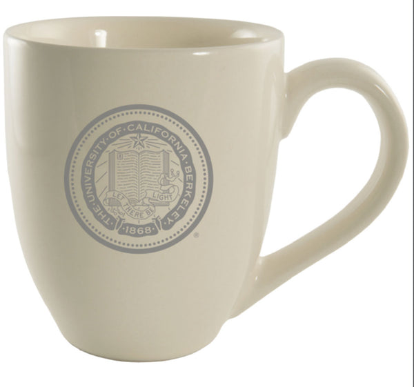 University Of California Berkeley Cal Laser Engraved 16 Oz. Bistro Ceramic Mug-Cream-Shop College Wear
