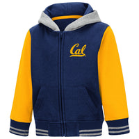 U.C. Berkeley Cal Toddler zip-up sweatshirt-Navy-Shop College Wear
