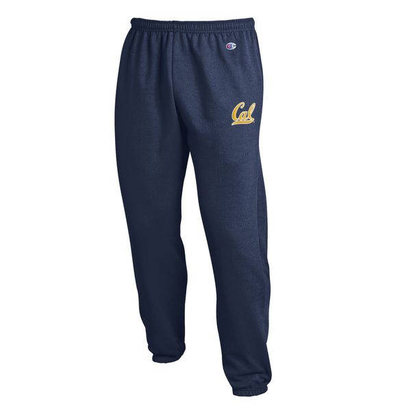 UC Berkeley Cal Men's Embroidered Champion Sweatpants - Navy-Shop College Wear