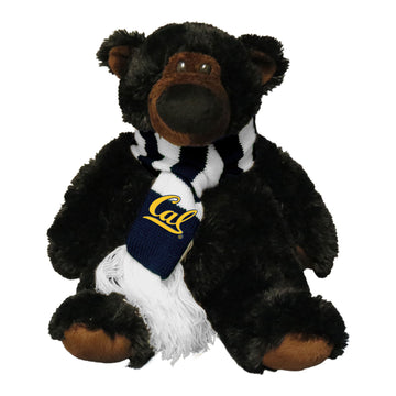 U.C. Berkeley Cal JP teddy bear with scarf-Black