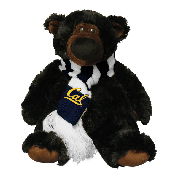 U.C. Berkeley Cal JP teddy bear with scarf-Black-Shop College Wear