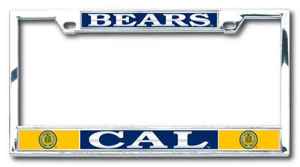 U.C. Berkeley Bears Boxter license plate frame-Silver-Shop College Wear