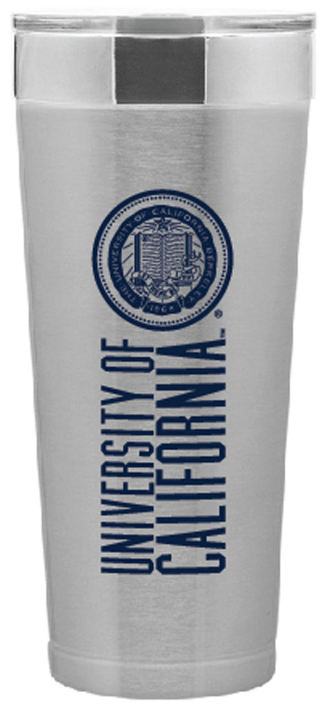 UC Berkeley Cal 20 oz. Stainless Tumbler - SILVER-Shop College Wear