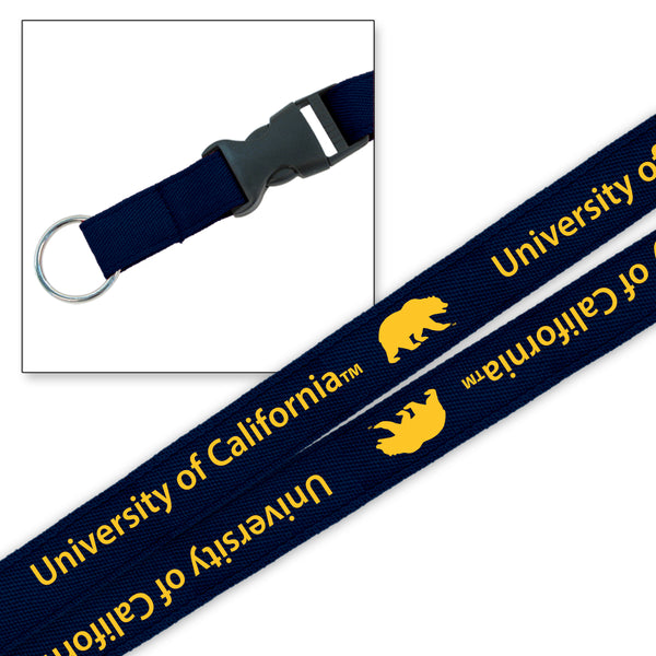 "University Of California Berkeley Cal 3/4""LANYARD- NAVY-Shop College Wear"