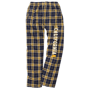 UC Berkeley Cal Men's Classic Flannel Pants - Navy