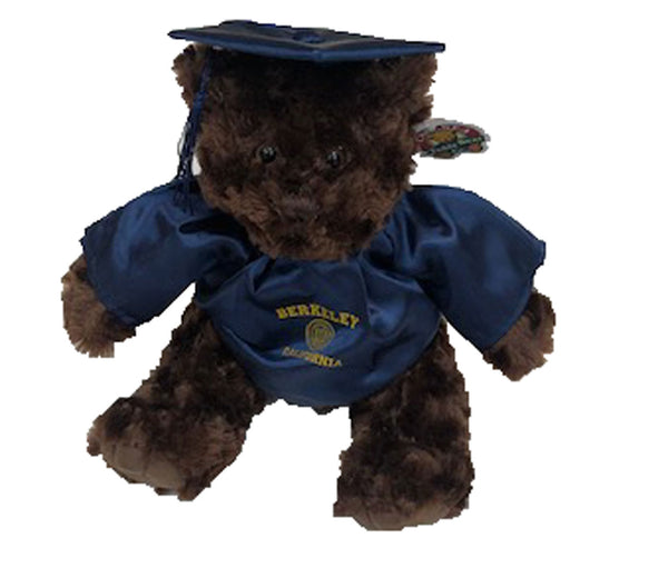 "U.C. Berkeley Cal 10"" cap and gown teddy bear-Brown-Shop College Wear"