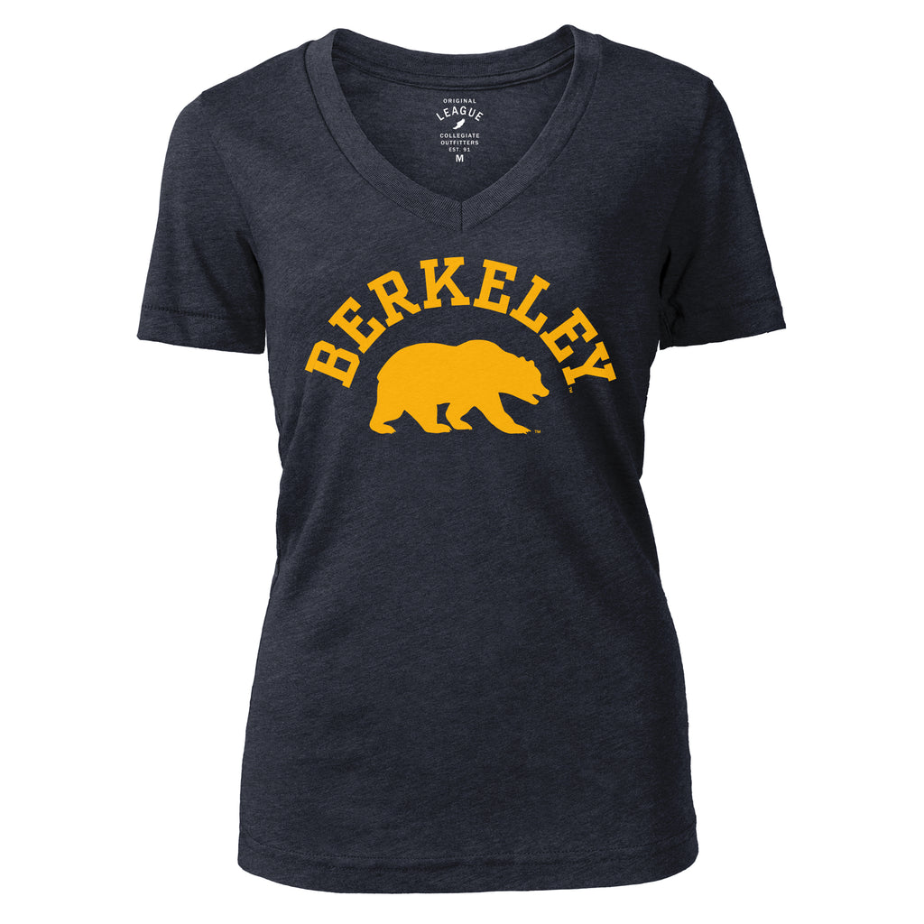 UC Berkeley Cal Tri-Blend League Women's Fitted T-Shirt - Navy-Shop College Wear