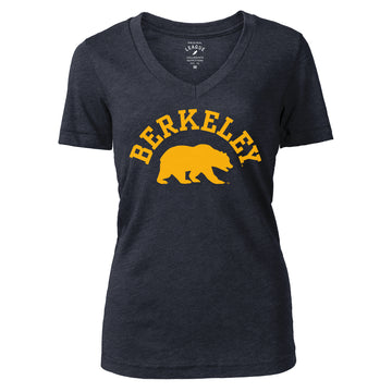 UC Berkeley Cal Tri-Blend League Women's Fitted T-Shirt - Navy