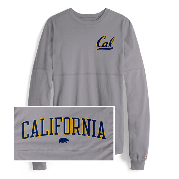 UC Berkeley Cal League Women Ra RA Shirt-Gray-Shop College Wear