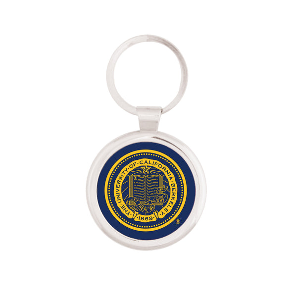 UC Berkeley Seal Maverick Key Tag - SILVER-Shop College Wear