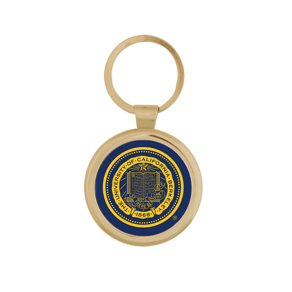UC Berkeley Seal Maverick Key Tag- GOLD-Shop College Wear