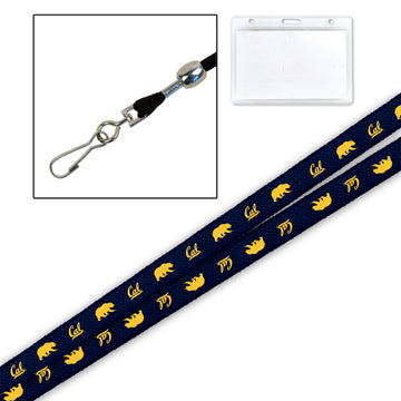 "University Of California Berkeley Cal 3/8""Lanyard-Navy"