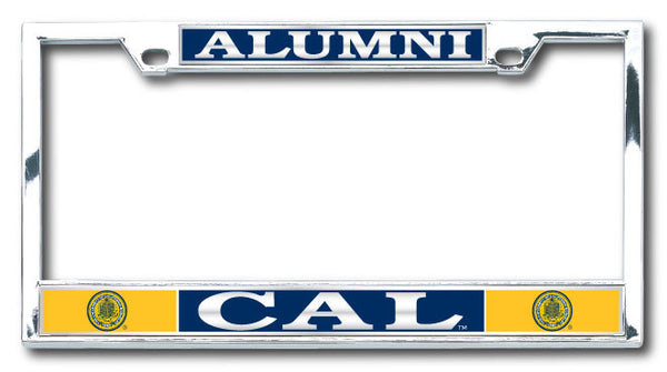 UC Berkeley Cal Alumni Boxter License Plate Frame- Silver-Shop College Wear