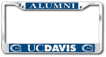 UC DAVIS ALUMNI License Plate Frame Chrome  - SILVER