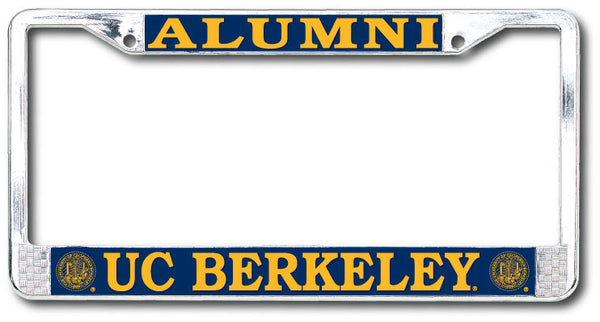 UC Berkeley Alumni Chrome License Plate Frame-Shop College Wear