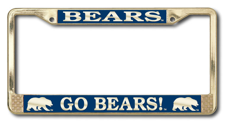 UC Berkeley Cal Polished Brass License Plate Frame- Gold-Shop College Wear
