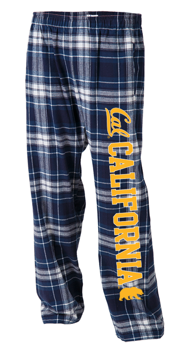 UC Berkeley Cal Men's Flannel Pants - Navy-Shop College Wear