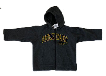U.C. Berkeley Cal applique kids hoodie zip-up sweatshirt-Charcoal