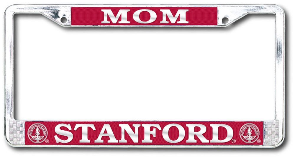 Stanford Cardinal Mom Polished Chrome License Plate Frame-Silver-Shop College Wear