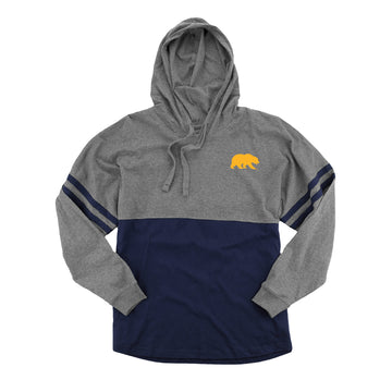 UC Berkeley Cal Hooded Pom Pom Shirt-Charcoal