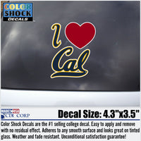 UC Berkeley I Love Cal Decal-Shop College Wear
