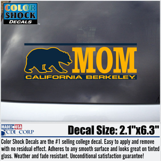UC Berkeley Cal Mom Decal-Shop College Wear