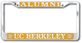 U.C. Berkeley Cal Alumni Polished brass license plate frame-Silver