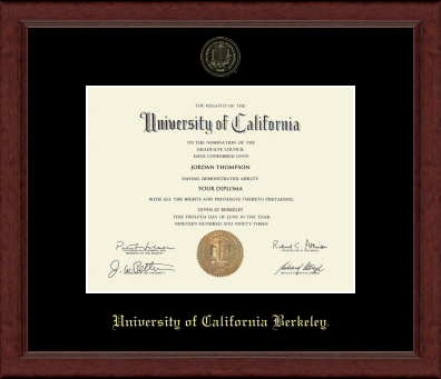 UC Berkeley Achievment Siera Embossed Diploma Frame-Shop College Wear