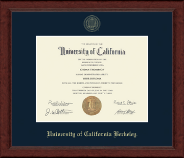 UC Berkeley Achievement Siera Embossed Diploma Frame