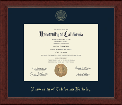 UC Berkeley Achievement Siera Embossed Diploma Frame-Shop College Wear