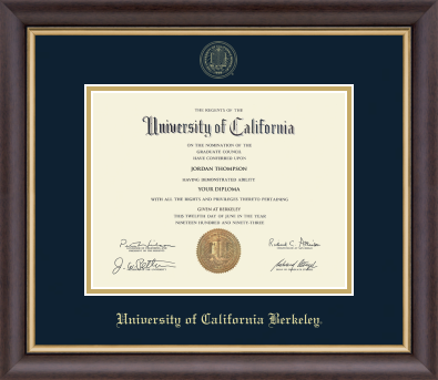 University Of California Berkeley Embossed Diploma Frame-Shop College Wear