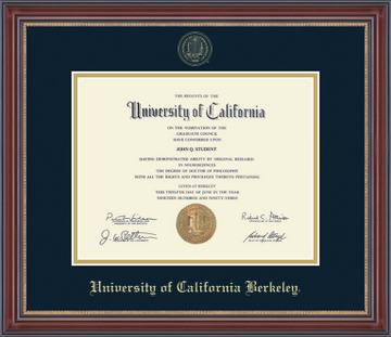 University Of California Berkeley Embossed Diploma Frame