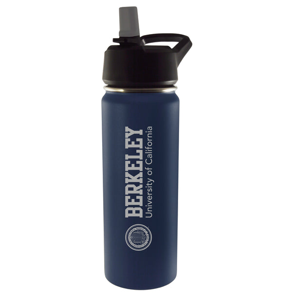 U.C. Berkeley Cal laser engraved 20 Oz vacuum tumbler-Navy-Shop College Wear