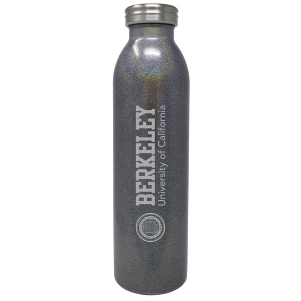 U.C. Berkeley Cal 20 oz.Grey Sparkle laser engraved vacuum tumbler-Grey-Shop College Wear