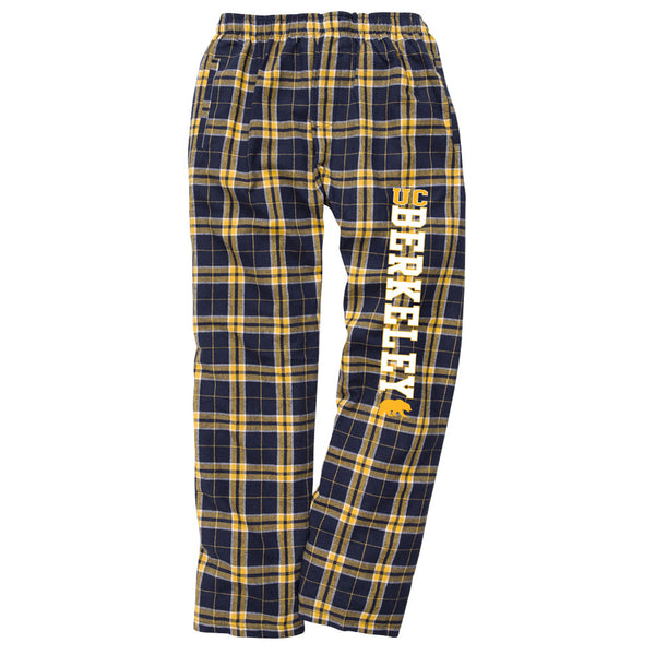 UC Berkeley Cal Youth Flannel Pants-Navy-Shop College Wear