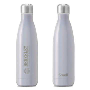 U.C. Berkeley Cal laser engraved 17oz. Swell water bottle-Silver