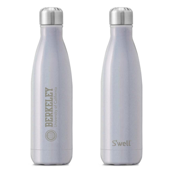 U.C. Berkeley Cal laser engraved 17oz. Swell water bottle-Silver-Shop College Wear