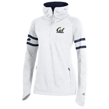 U.C. Berkeley Cal embroidered Champion women's hoodie sweatshirt-White