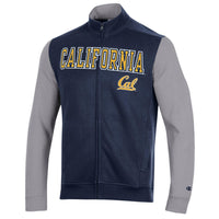 U.C. Berkeley Cal embroidered Champion track Jacket-Navy-Shop College Wear