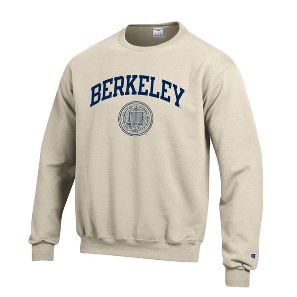 U.C. Berkeley arch & seal Champion crew neck sweatshirt-Oatmeal-Shop College Wear