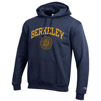 University of California Berkeley arch and seal Champion hoodie Sweatshirt - Navy-Shop College Wear