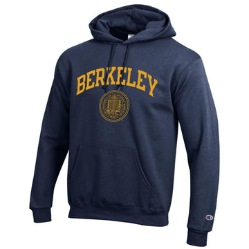 University of California Berkeley  arch and seal  Champion hoodie Sweatshirt - Navy
