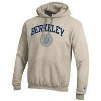 U.C. Berkeley Cal Champion arch & Seal men's hoodie sweatshirt-Oatmeal-Shop College Wear