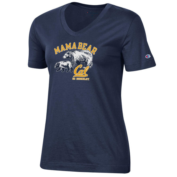 UC Berkeley Mom and Bear Champion T-Shirt-Navy-Shop College Wear