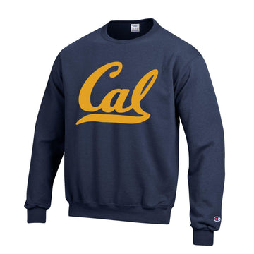 U.C. Berkeley Cal Bears Script Cal Champion crew neck sweatshirt-Navy
