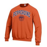 Pepperdine University Champion Crew Neck Sweatshirt-Orange-Shop College Wear